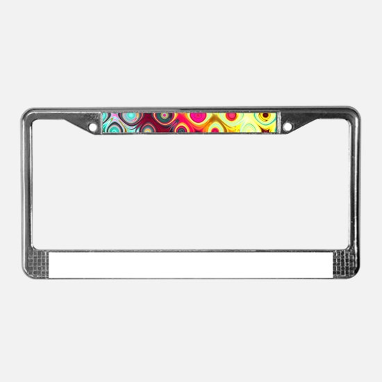 Megafunky Rainbow patterns License Plate Frame