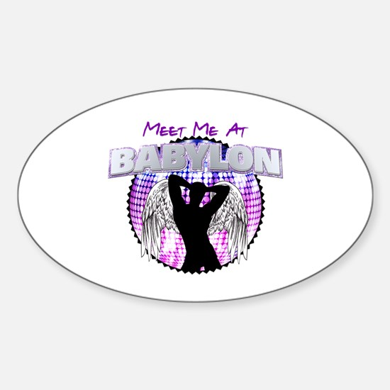Meet Me At Babylon Oval Decal