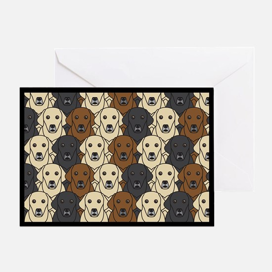 Lots of Labs Greeting Card