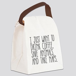 Take Naps Canvas Lunch Bag