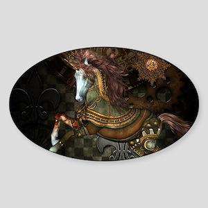 Steampunk,mystical steampunk unicorn Sticker