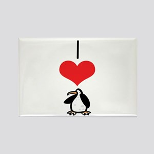 Penguin Rectangle Magnet