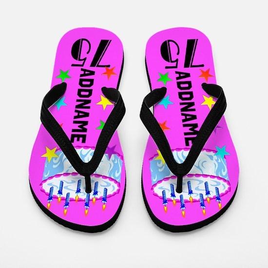 Charming 75th Flip Flops