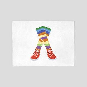 Colorful Socks 5'x7'Area Rug