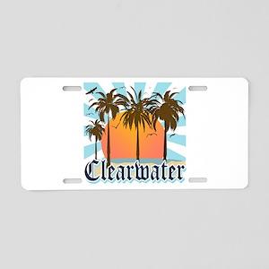Clearwater Beach Florida Aluminum License Plate