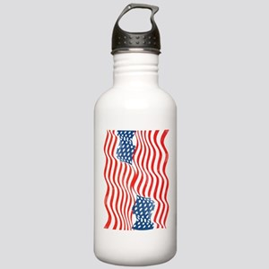 Fun Patriotic USA Flag Design Water Bottle