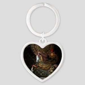 Steampunk,mystical steampunk unicorn Keychains