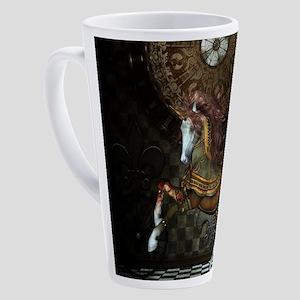 Steampunk,mystical steampunk unicorn 17 oz Latte M