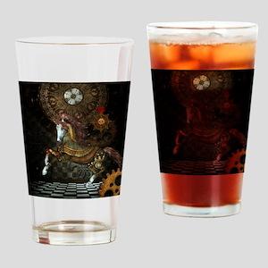 Steampunk,mystical steampunk unicorn Drinking Glas
