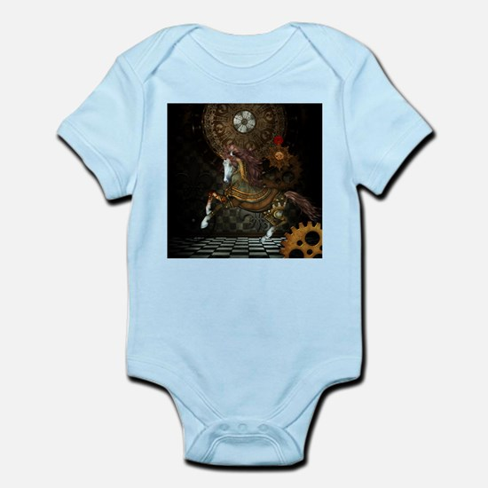 Steampunk,mystical steampunk unicorn Body Suit