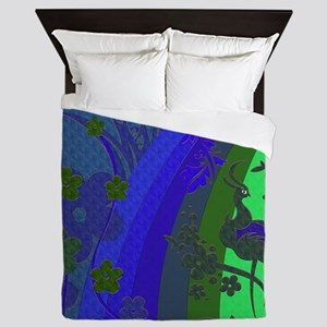 Peacock By Moon Glow Queen Duvet