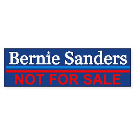 Bernie Not For Sale Bumper Sticker