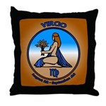 Virgo Art Throw Pillow Astrology Vigro Gifts