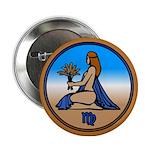 Virgo Art Button Astrology Art Gifts
