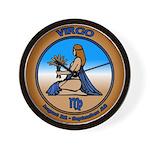 Virgo Art Wall Clock Astrology Virgo Gifts