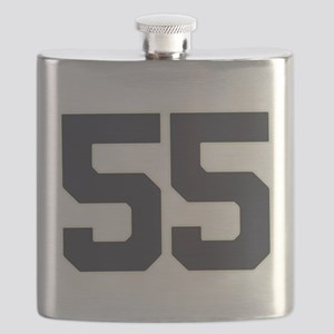55 55th Birthday 55 Years Old Flask