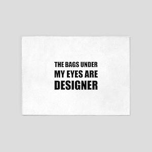 Bags Under Eyes 5'x7'Area Rug