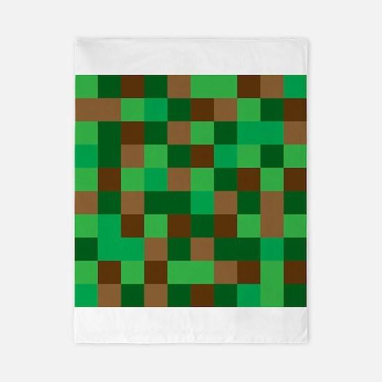 Green Pixelated Design Twin Duvet