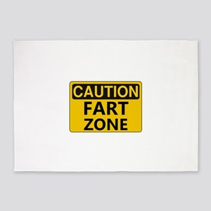 Caution Fart Zone 5'x7'Area Rug