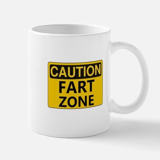 Caution Fart Zone Mugs
