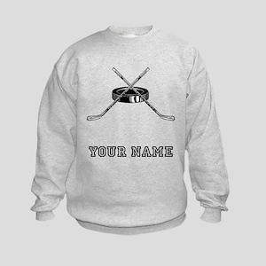 Hockey Sticks And Puck (Custom) Sweatshirt