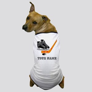 Hockey Equipment (Custom) Dog T-Shirt