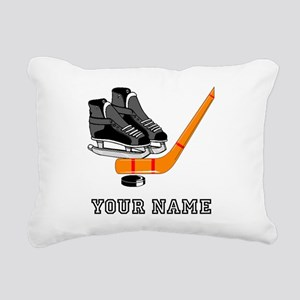 Hockey Equipment (Custom) Rectangular Canvas Pillo