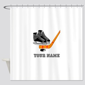 Hockey Equipment (Custom) Shower Curtain