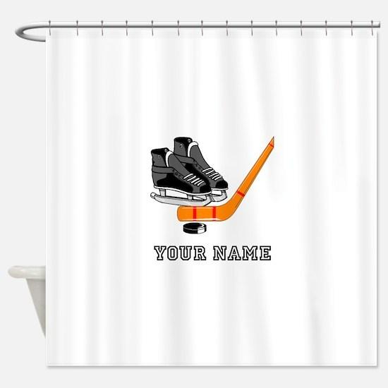 Hockey Equipment (Custom) Shower Curtain