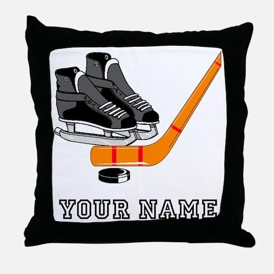 Hockey Equipment (Custom) Throw Pillow