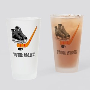 Hockey Equipment (Custom) Drinking Glass