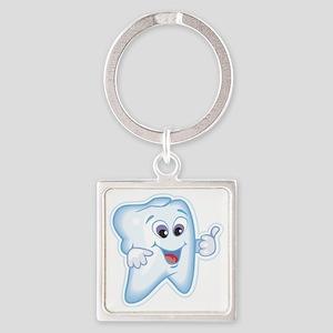 Dentist Dental Hygienist Square Keychain