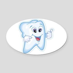 Dentist Dental Hygienist Oval Car Magnet
