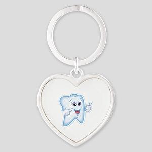 Dentist Dental Hygienist Heart Keychain