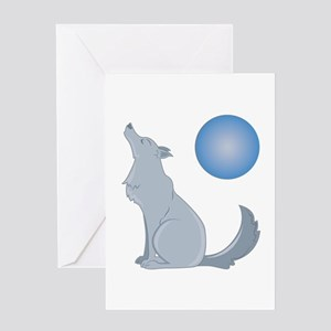 Howl At Moon Greeting Cards