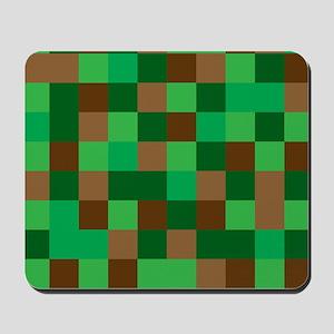 Green Pixelated Design Mousepad