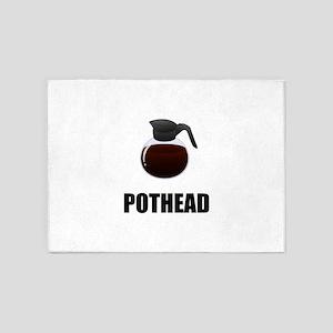 Coffee Pothead 5'x7'Area Rug
