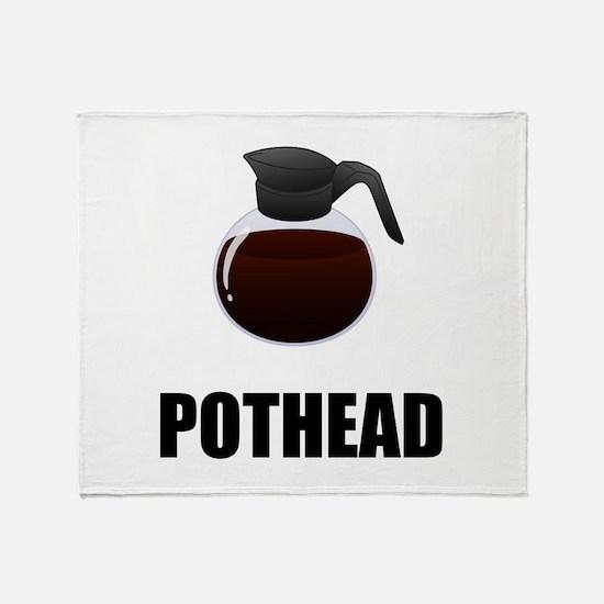 Coffee Pothead Throw Blanket