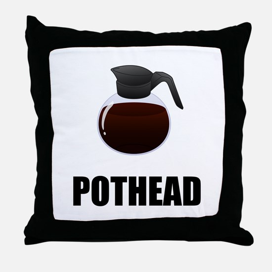 Coffee Pothead Throw Pillow