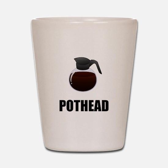 Coffee Pothead Shot Glass