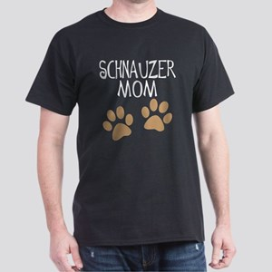 Big Paws Schnauzer Mom Dark T-Shirt
