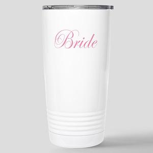 Bride Pink Script Stainless Steel Travel Mug