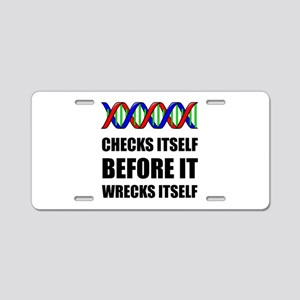 DNA Checks Wrecks Aluminum License Plate