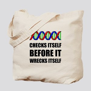 DNA Checks Wrecks Tote Bag