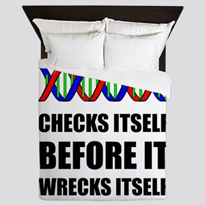 DNA Checks Wrecks Queen Duvet
