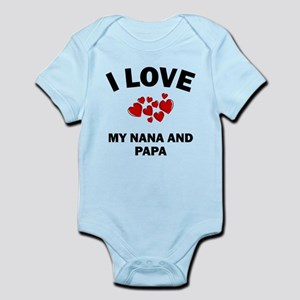I Love My Nana And Papa Body Suit