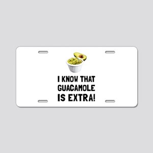 Guacamole Is Extra Aluminum License Plate