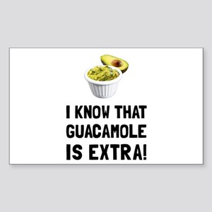 Guacamole Is Extra Sticker