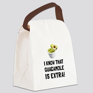 Guacamole Is Extra Canvas Lunch Bag