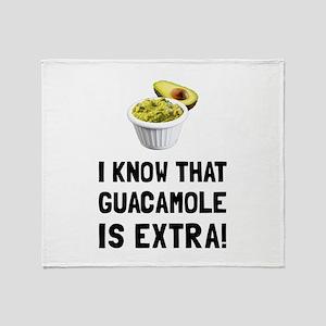 Guacamole Is Extra Throw Blanket